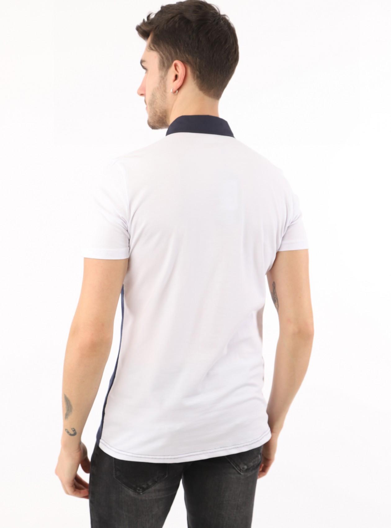 Polo Homme Blanc Coton