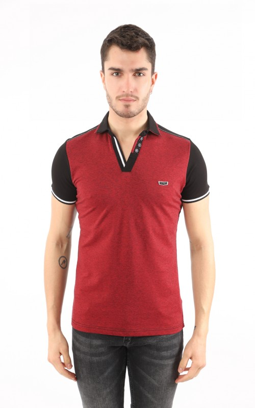 Polo Homme Rouge Slim