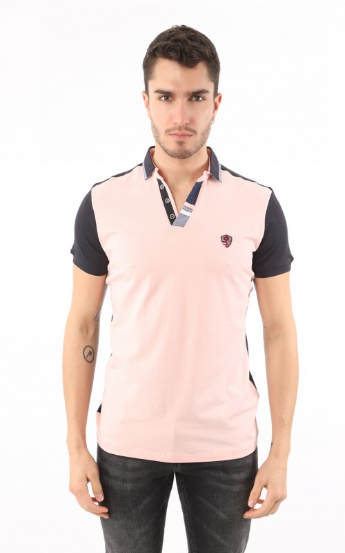 Polo Homme Rose Sport