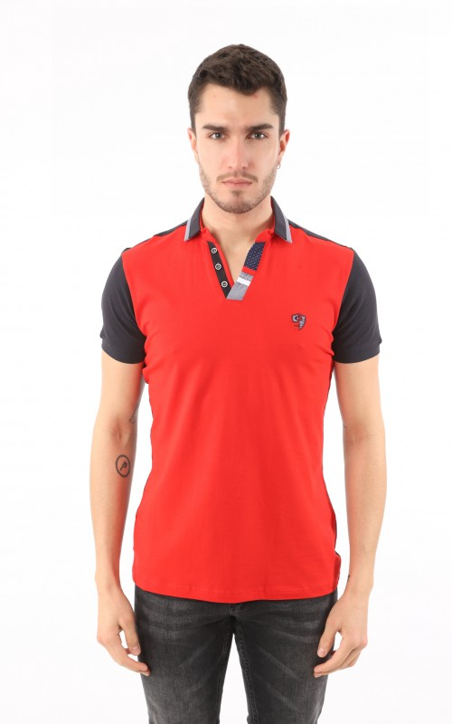 Polo Homme Rouge Sport