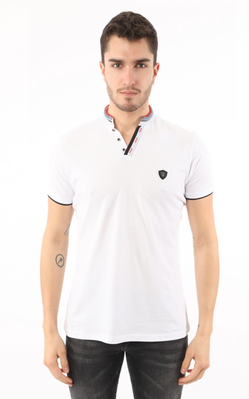 Polo Homme Blanc Golf