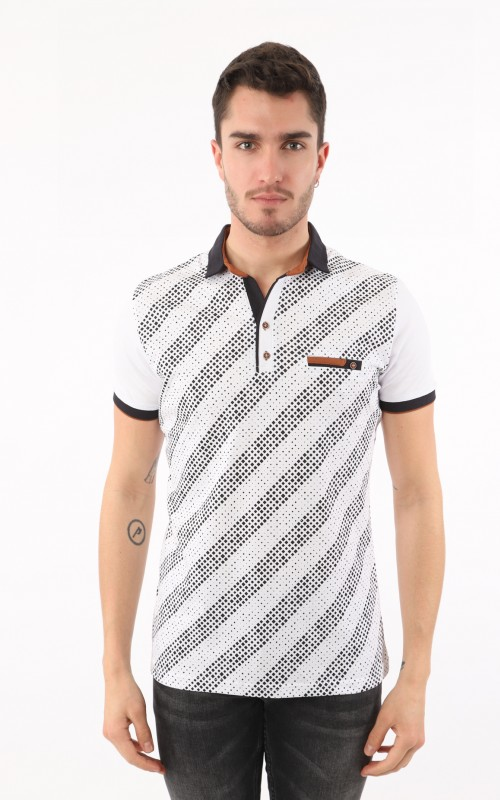 Polo Homme Blanc Sport
