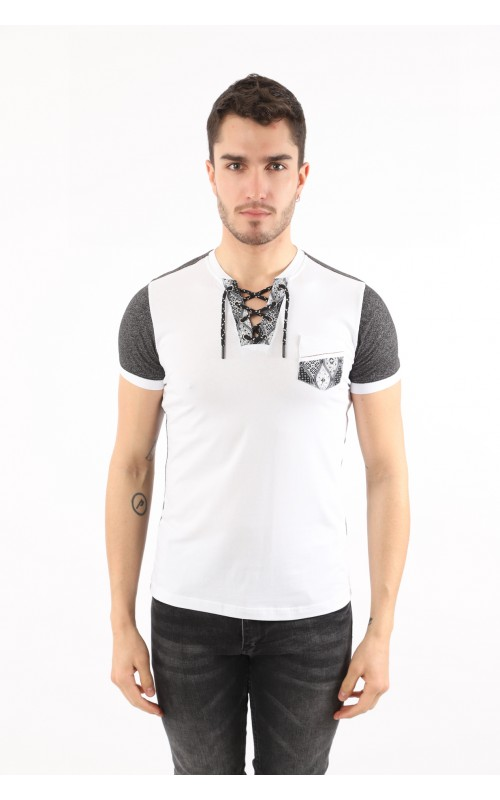 T-Shirt Homme Blanc Basic