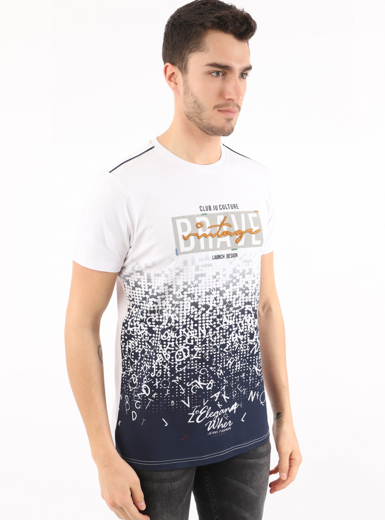 T-Shirt Homme Blanc Marque