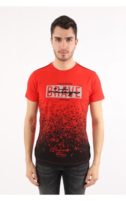 T-Shirt Homme Rouge Marque