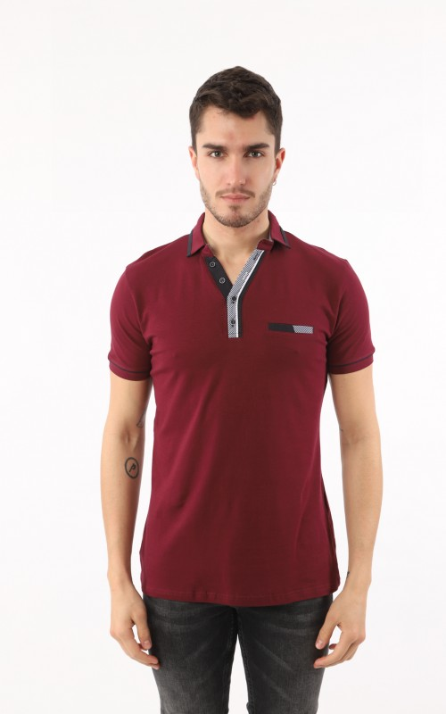 Polo Homme Prune Marque