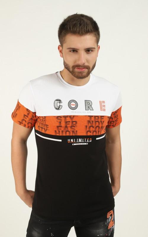 T-shirt Blanc détail brodé