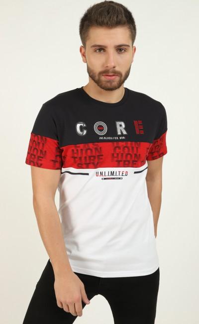 T-shirt Marine détail brodé
