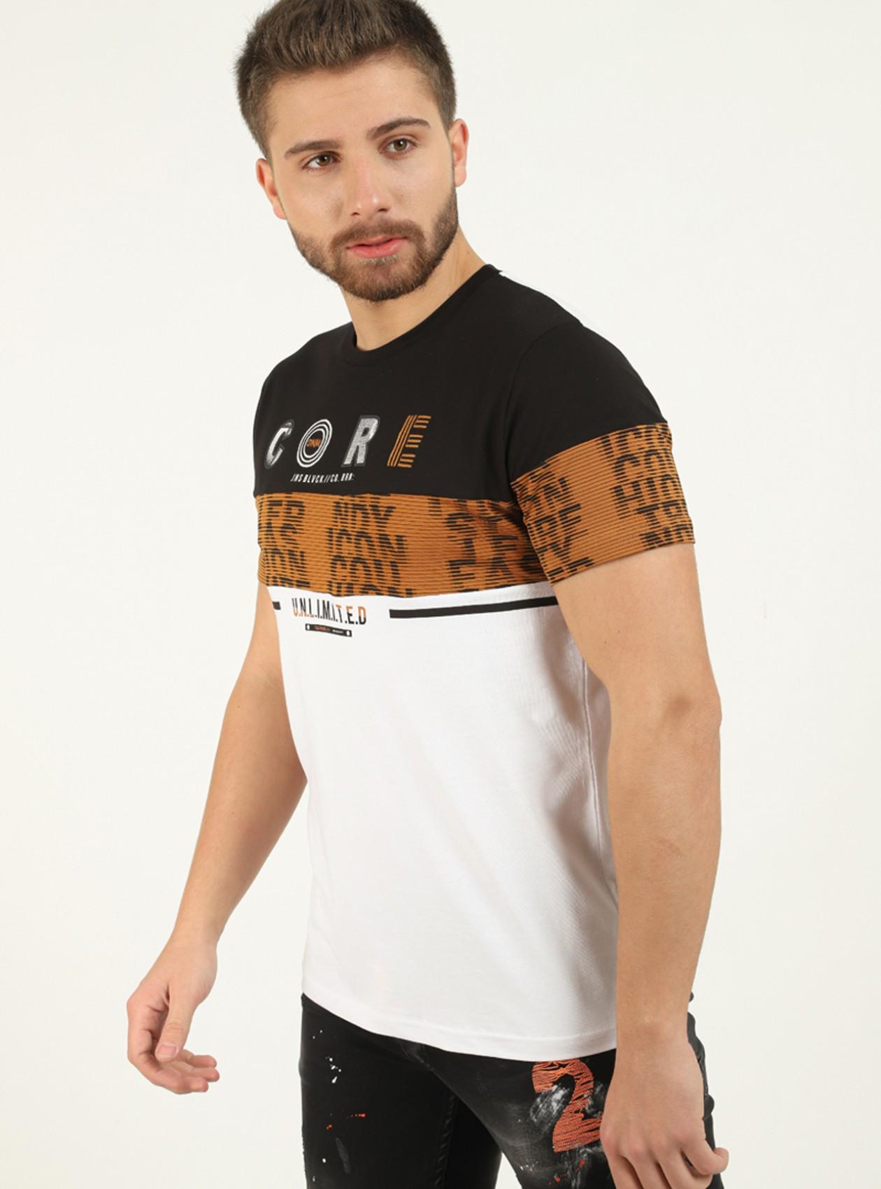T-shirt Noir détail brodé