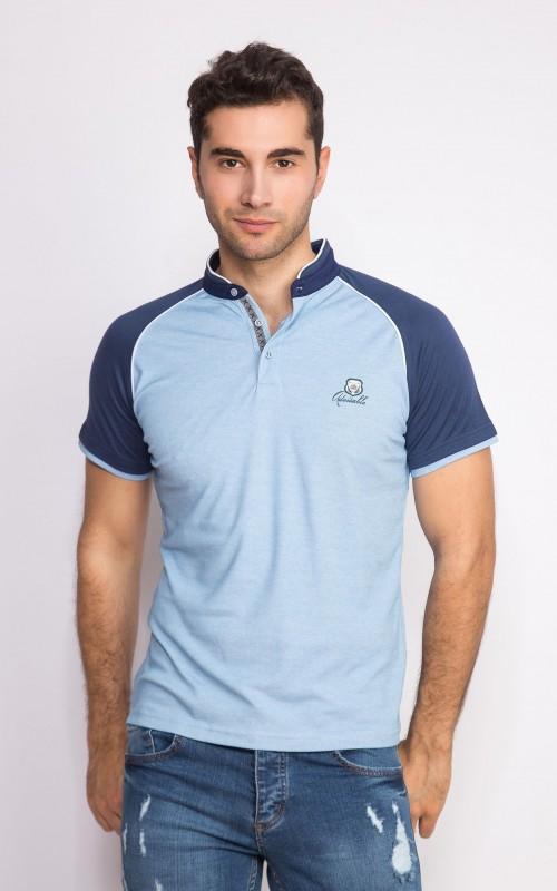 Polo Homme Bleu Original