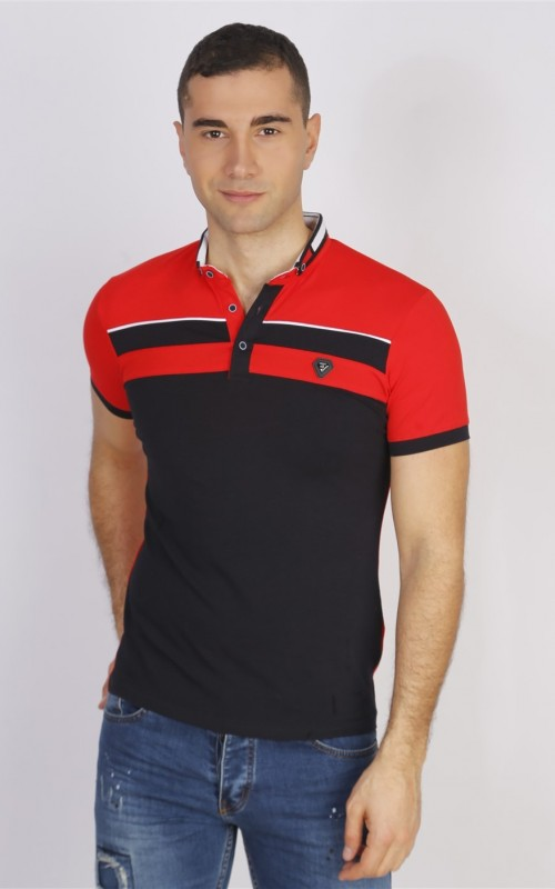 Polo Homme Rouge Coton
