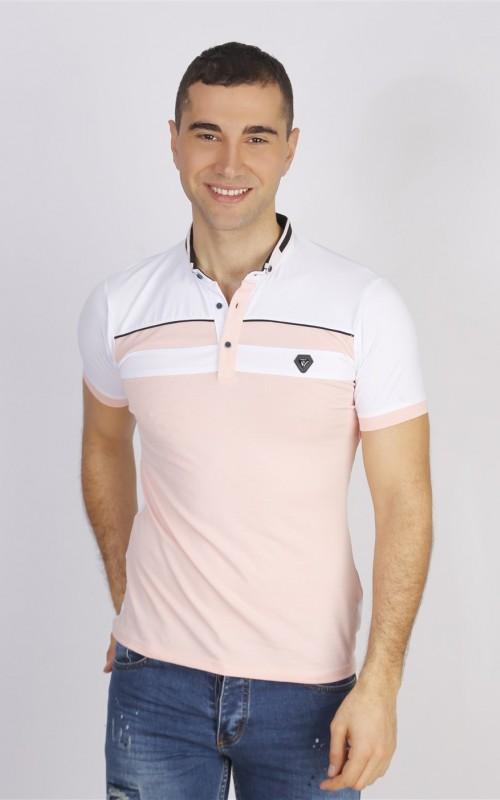 Polo Homme Rose Coton