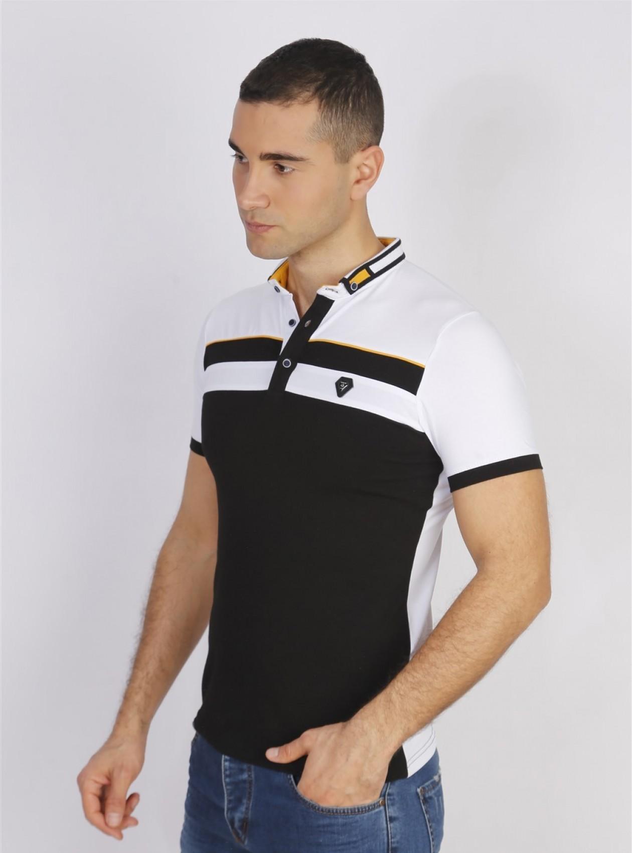 Polo Homme Noir Coton