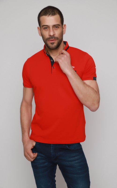 Sport Polo Homme Rouge