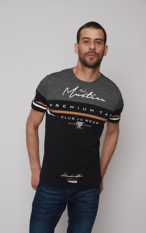 Coton T-Shirt Homme Marine