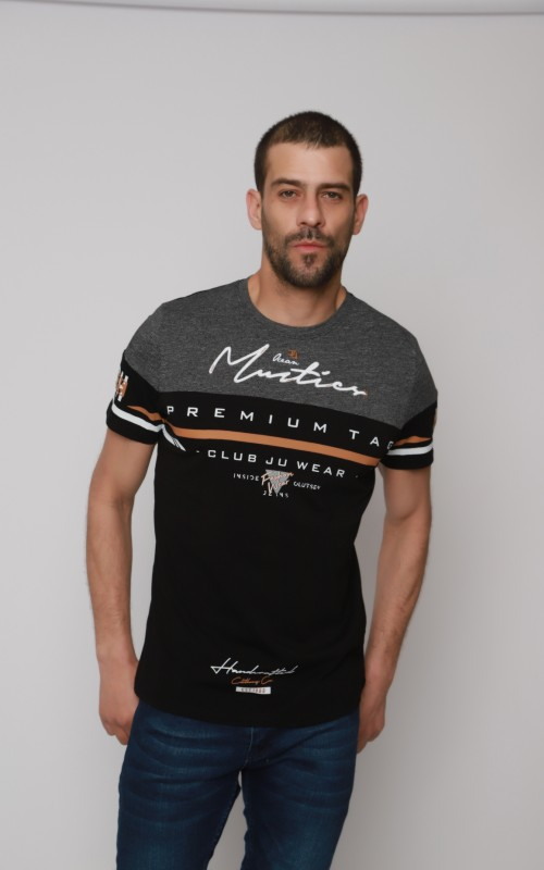 Coton T-Shirt Homme Noir