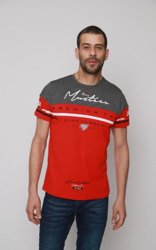 Coton T-Shirt Homme Rouge