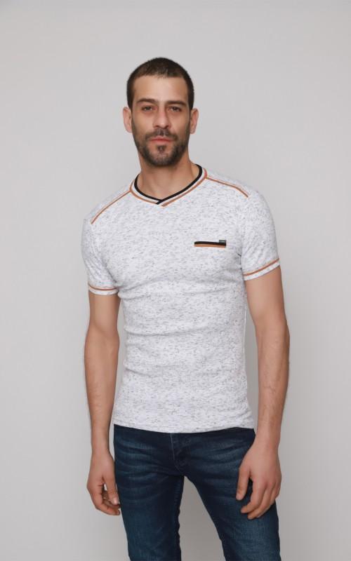 T-Shirt Homme Blanc Slim