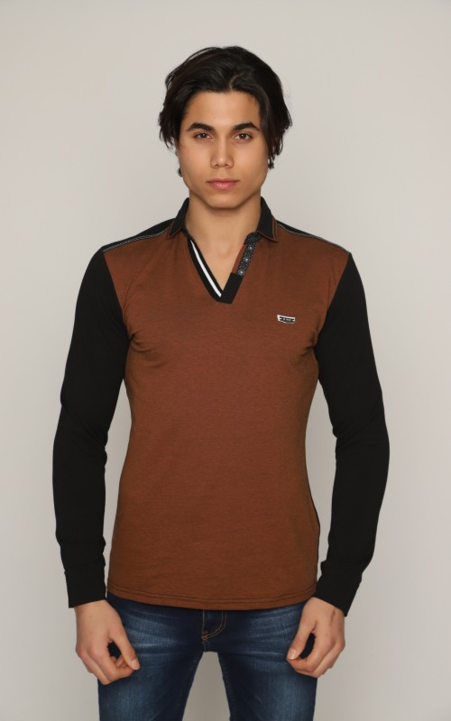 Slim Polo Homme Tabac