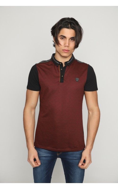 Original Polo Homme Bordeaux