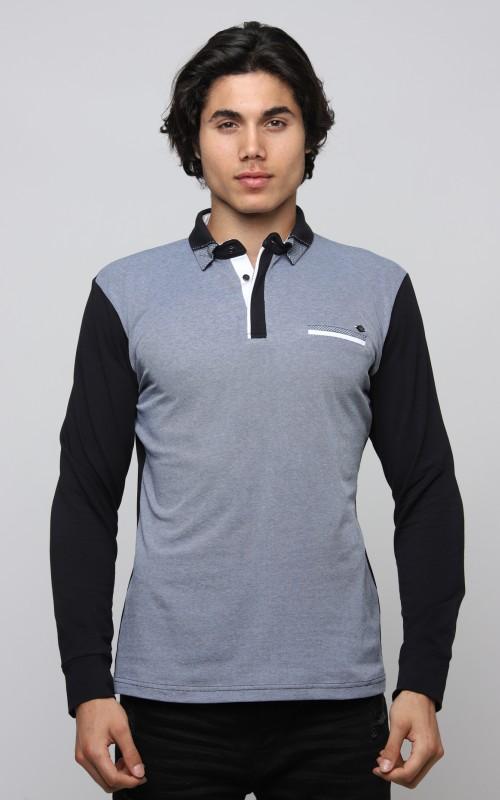 Basic Polo Homme Bleu
