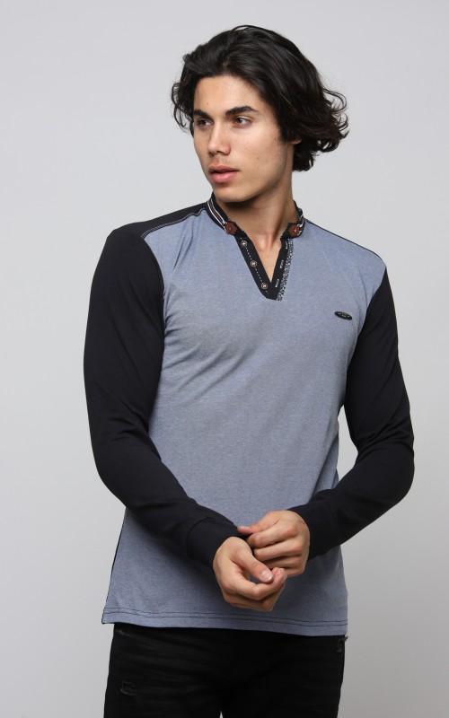 Slim Tshirt Homme Bleu