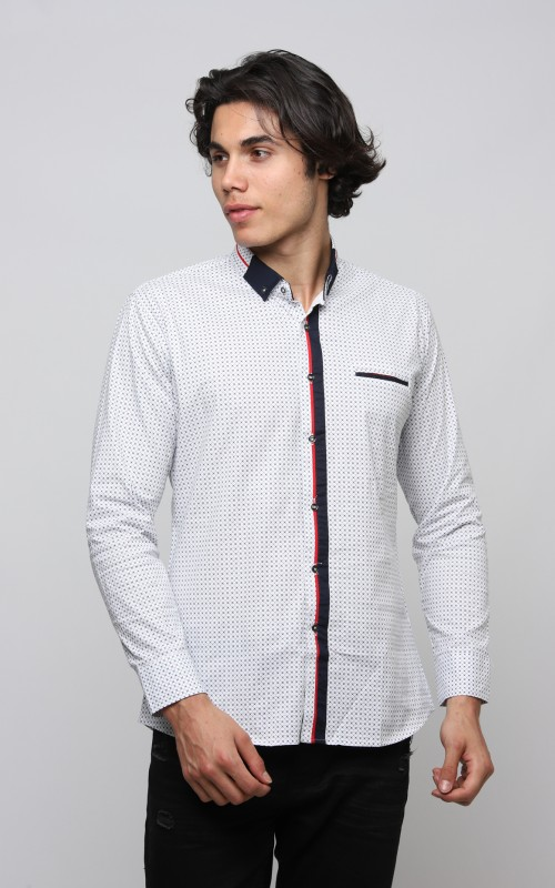 Casual Chemise Homme Blanc