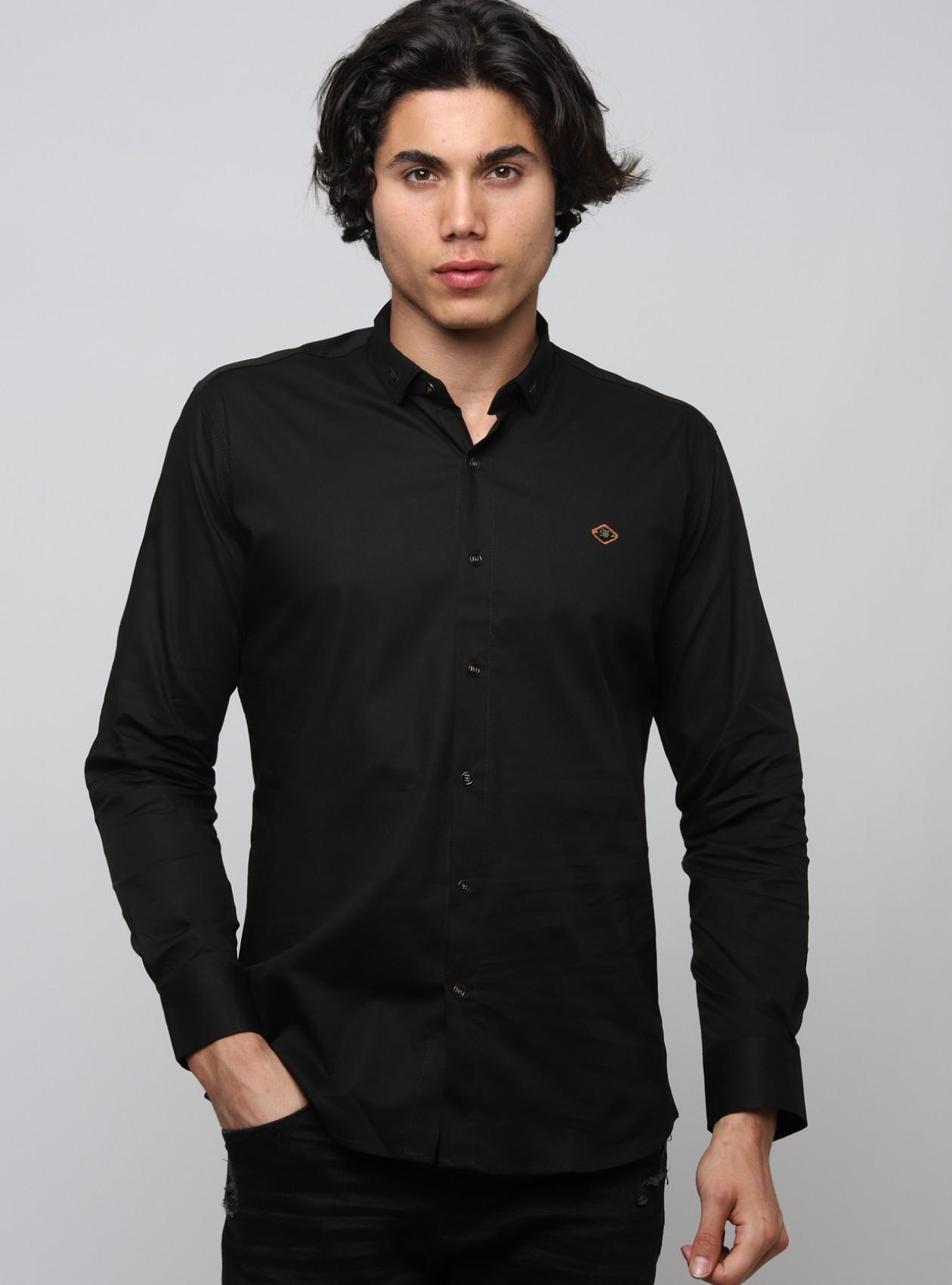 Marque Chemise Homme Noir