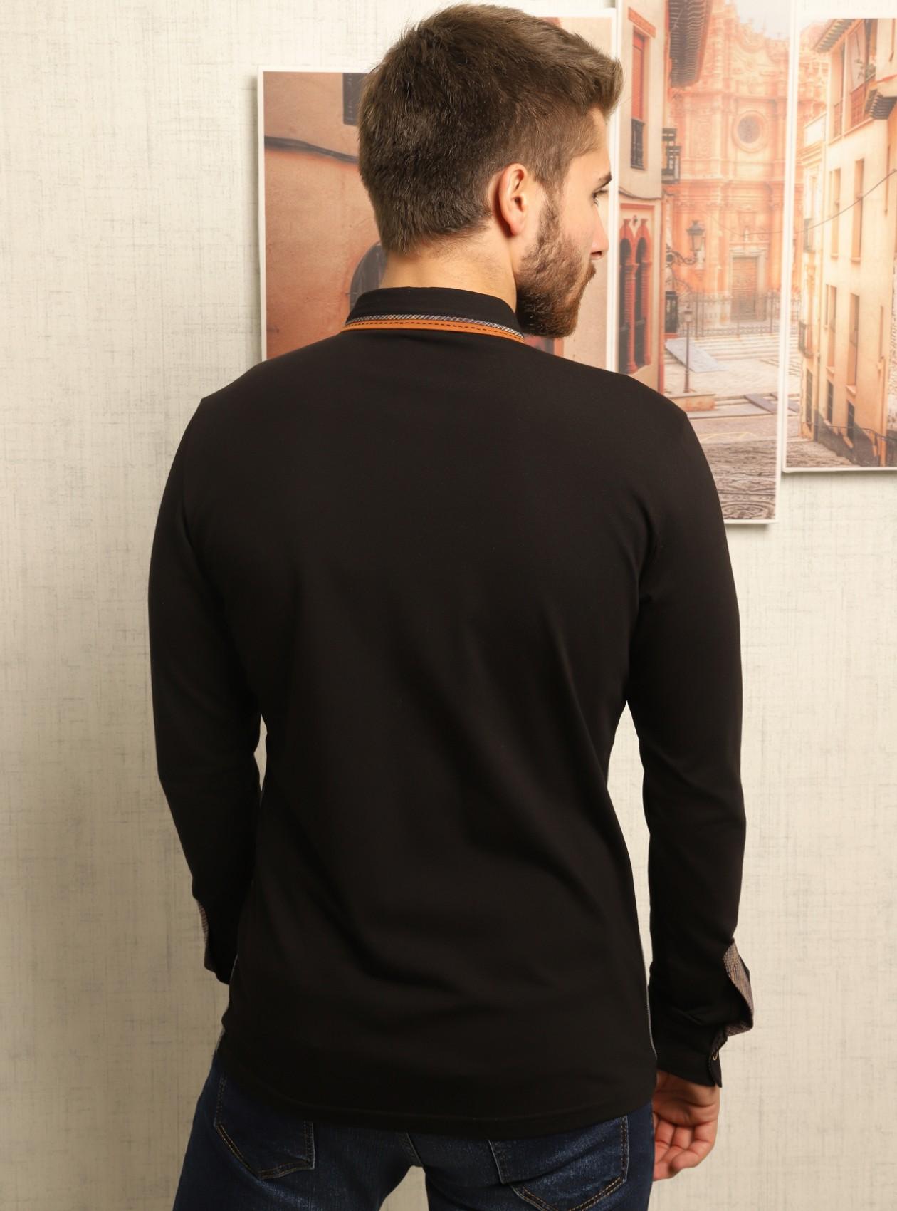 Casual Chemise Homme Noir