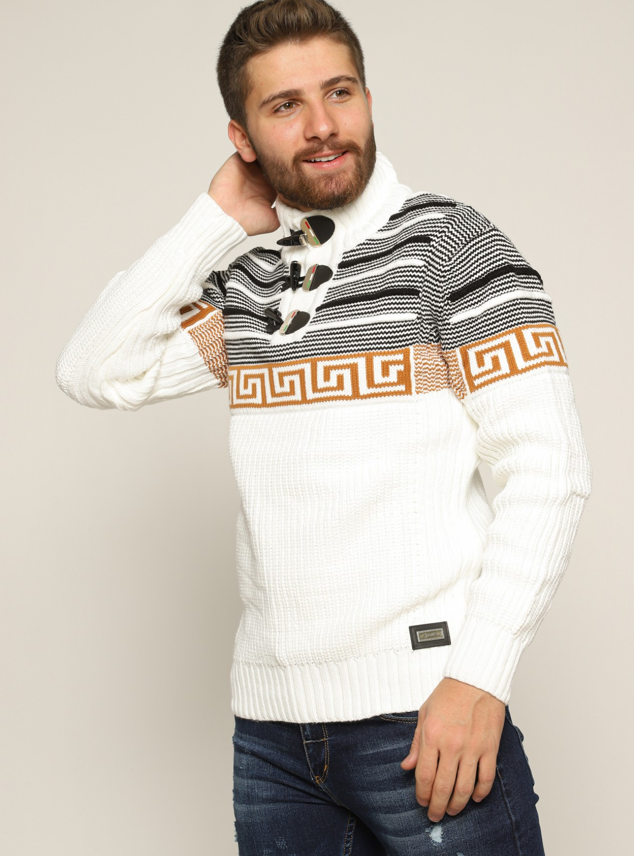 Marque Pull Homme Blanc